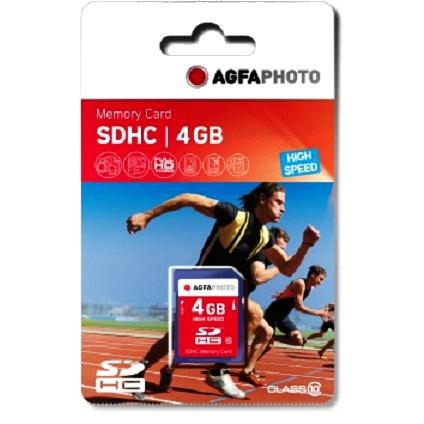 AgfaPhoto SDHC Card 4GB Class 10 / High Speed / MLC