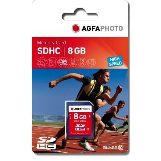 AgfaPhoto SDHC Card 8GB Class 10 / High Speed / MLC