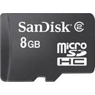 Sandisk 8 GB microSDHC Card + Adapter