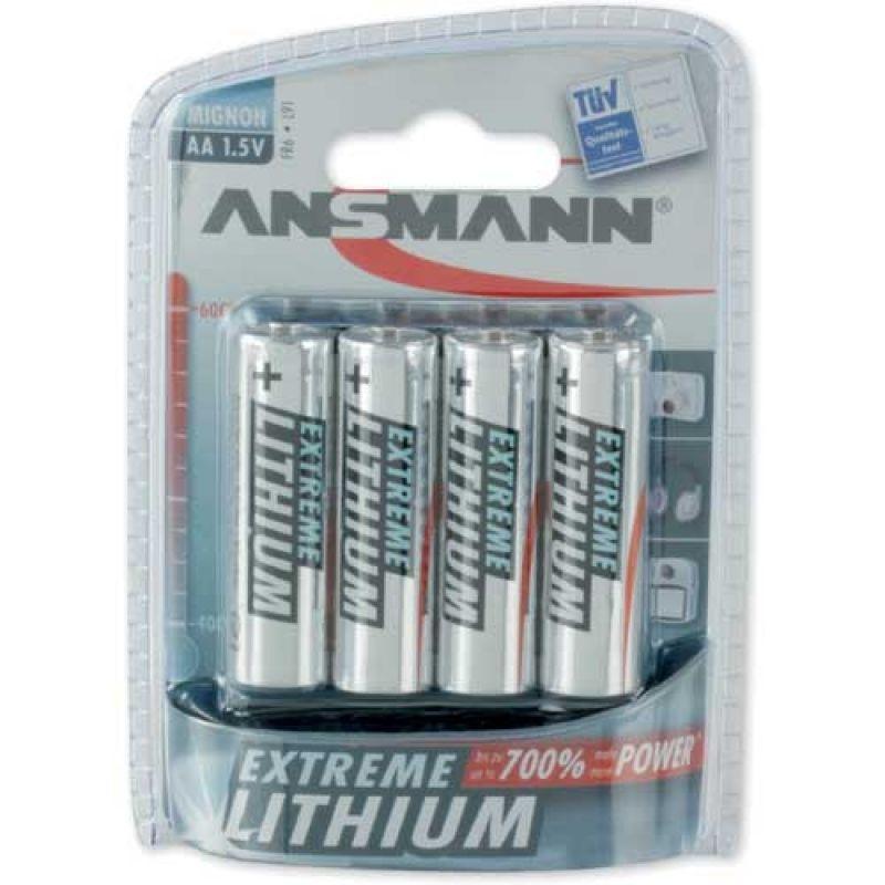 1x4 Ansmann Extreme Lithium Mignon AA