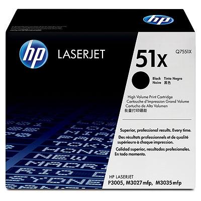 HP Toner Q7551X black 51X