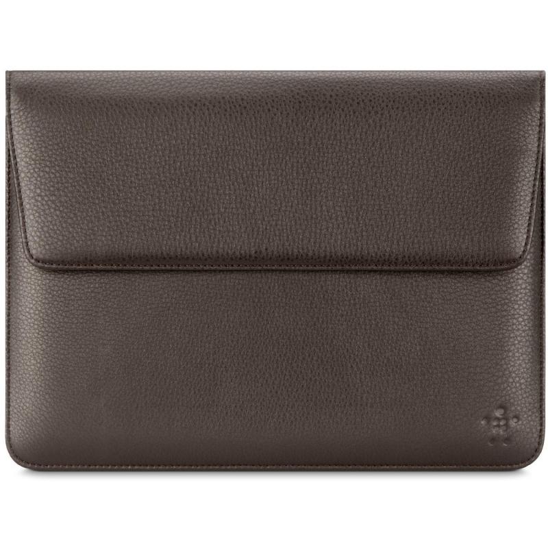 Belkin Premium leather Sleeve dark brown iPad 2 / 3. Gen.