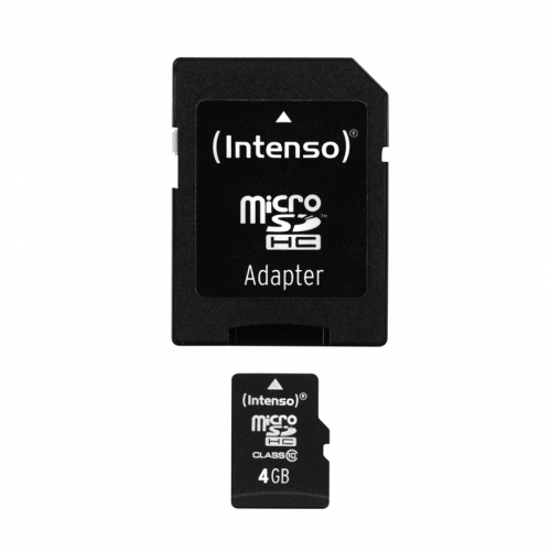 Intenso microSD 4GB 12/20 Class 10 + Adapter