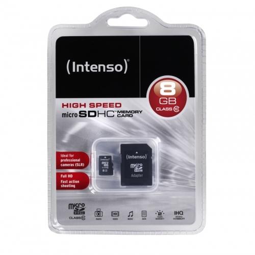 Intenso microSD 8GB 12/20 Class 10 + Adapter