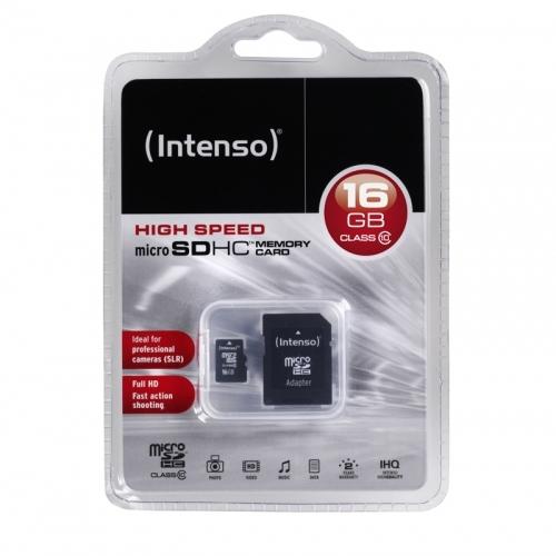 Intenso microSD 16GB 12/20 Class 10 + Adapter
