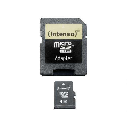 Intenso microSD 4GB 5/21 Class 4 + Adapter