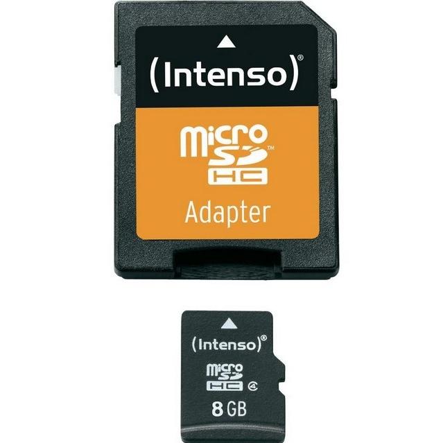 Intenso microSD 8GB 5/21 Class 4 + Adapter