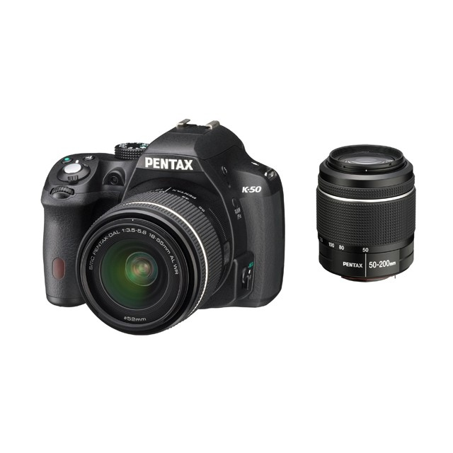 Pentax K-50 Kit black + DAL 18-55 WR + 50-200 WR