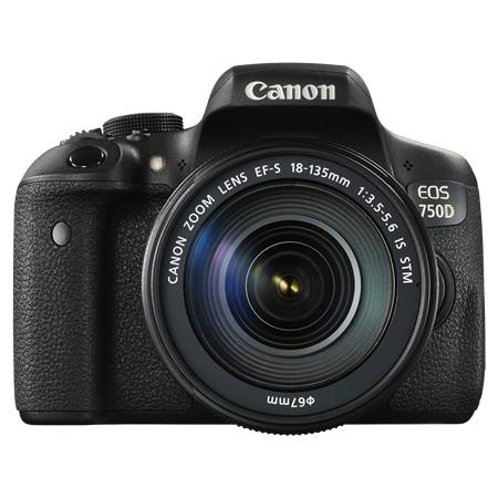 Canon EOS 750D černá + 18-135 mm IS STM