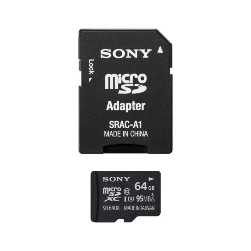 Sony microSDXC UHS-I 64 GB (SR64UXA) + SD adapter