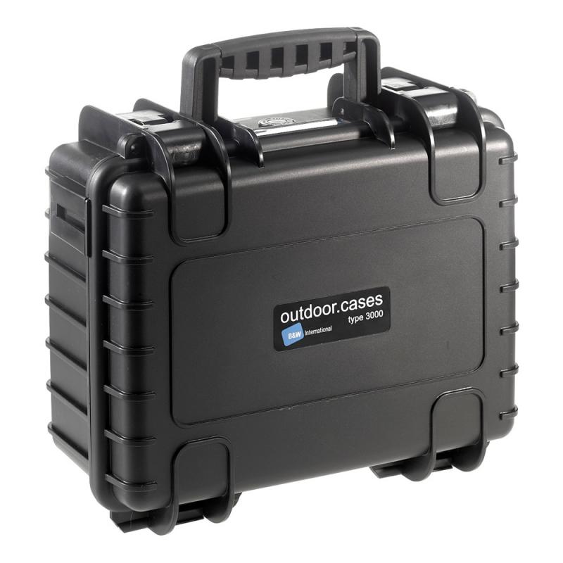 B&W International Outdoor Case type 3000 Padded [3000/B/RPD]