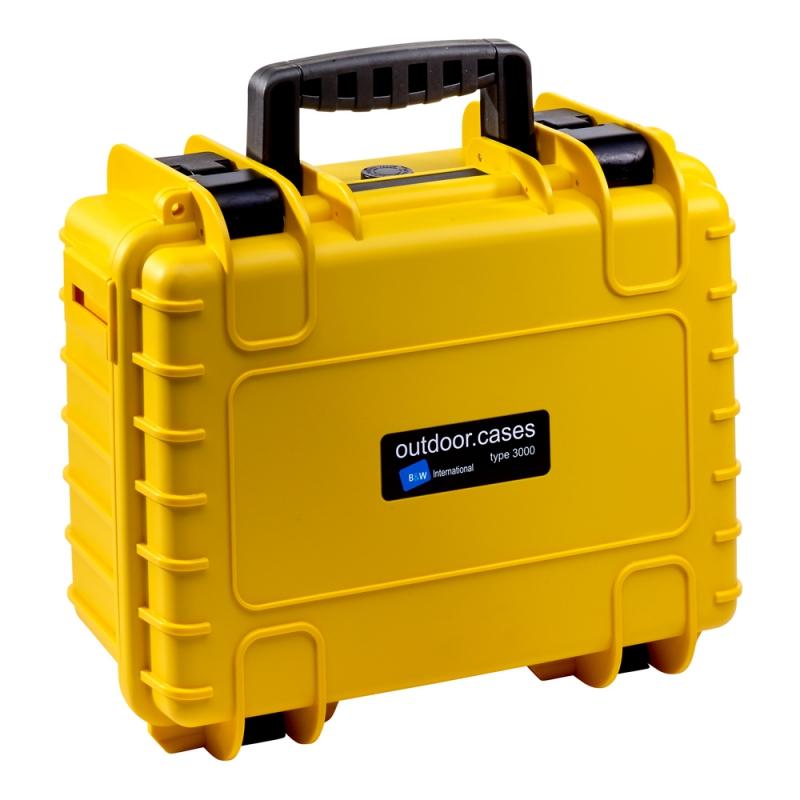 B&W International Outdoor Case type 3000 Padded žlutá [3000/Y/RPD]