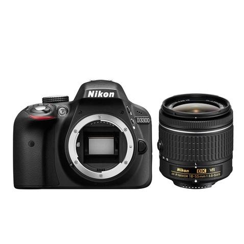 Nikon D3300 černá + AF-P 18-55 mm VR