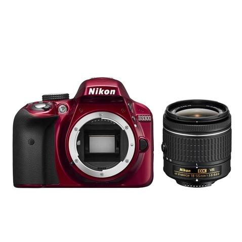Nikon D3300 červená + AF-P 18-55 mm VR