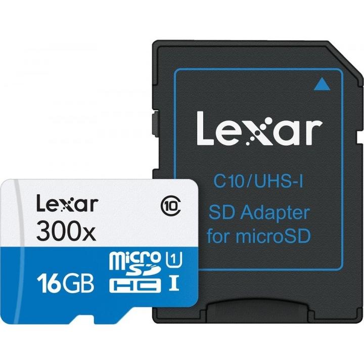 Lexar microSDHC 300x 16 GB (LSDMI16GBB1EU300A)