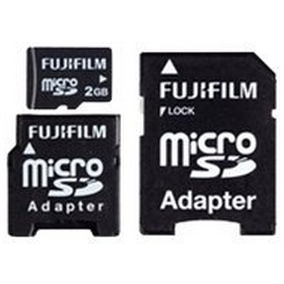 Fujifilm microSD High Quality 2 GB (04000686) + SD adapter