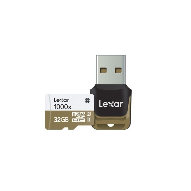 Lexar microSDHC 1000x UHS-II 32 GB (LSDMI32GCBEU1000R) + USB 3.0 reader