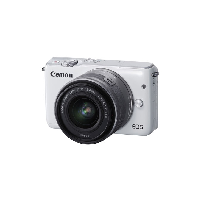 Canon EOS M10 bílá + 15-45 mm