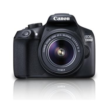 Canon EOS 1300D černá + 18-55 IS