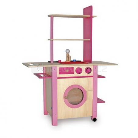 Dětská kuchyně All in One růžová