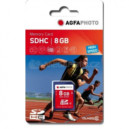 AgfaPhoto SDHC Card   8GB Class 10 / High Speed / MLC