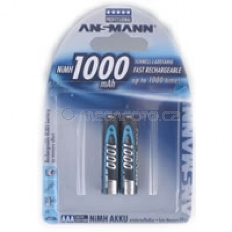 Ansmann 1000mAh NiMh Professional 2x AAA