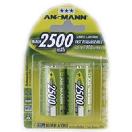 Ansmann 2500mAh NiMh 2xC
