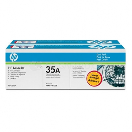 HP Toner CB435AD black 35 A Twin Pack
