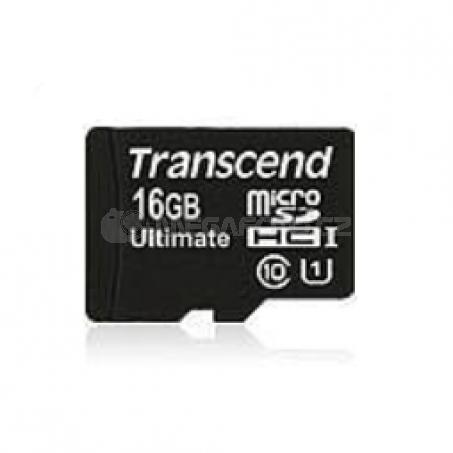 Transcend MicroSDHC Card  16GB + Adapter / 600x Class 10 UHS-I MLC