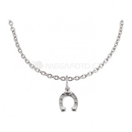 Stříbrný náhrdelník s přívěskem - Podkova