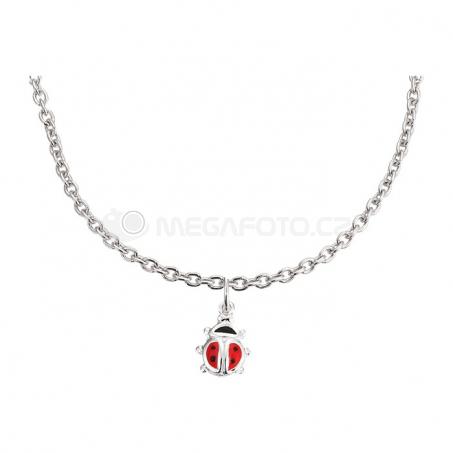 Stříbrný náhrdelník s přívěskem - Beruška