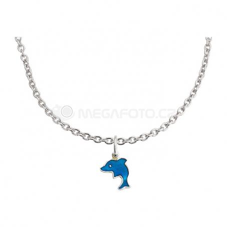 Stříbrný náhrdelník s přívěskem - Delfín