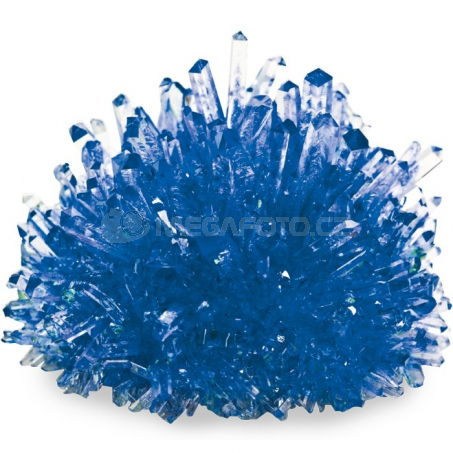 Pěstování krystalů, modré