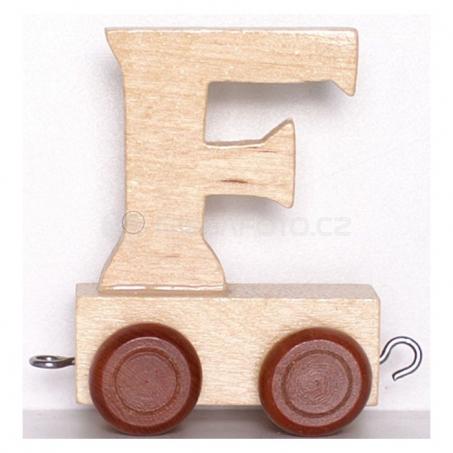 Písmenko vláček F