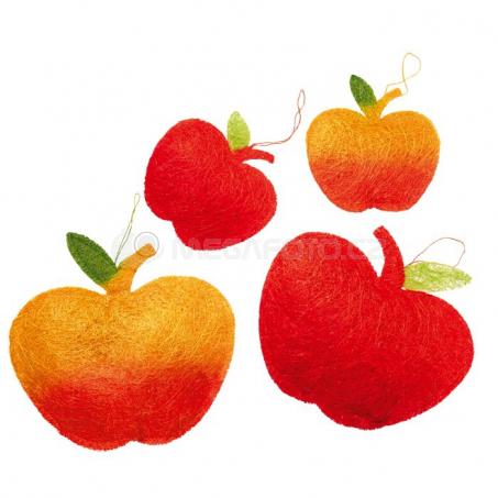 Sisalové jablko, 6 kusů