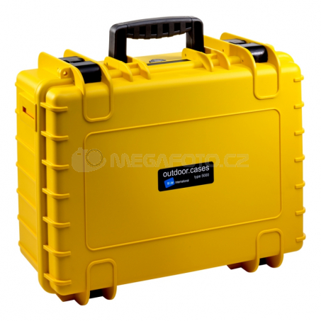B&W International Outdoor Case type 5000 Padded žlutá [5000/Y/RPD]
