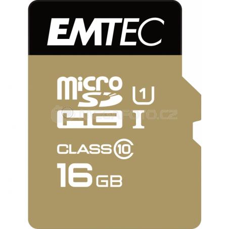Emtec Elite Gold microSDHC 16 GB [ECMSDM16GHC10GP]