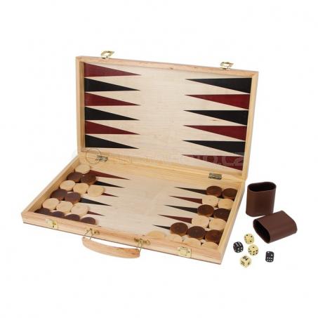 Kufřík šachy a vrhcáby (Backgammon)