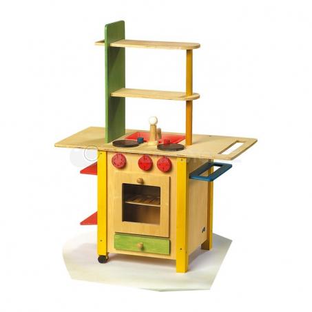 Velká dřevěná kuchyňka - vše v jednom