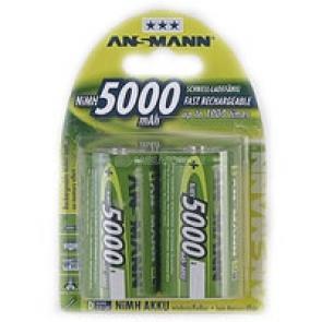 1x2 Ansmann maxE NiMH Mono D 5000 mAh