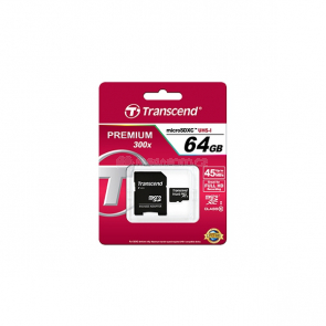 Transcend microSDXC 64 GB (TS64GUSDXC10) + SD adapter