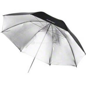 walimex Reflex Umbrella black/silver 2 lay., 109 cm [17666]
