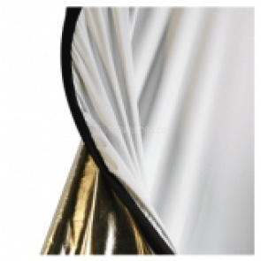 walimex 2in1 Foldable Reflector wavygold/white, 145x200 cm [16264]