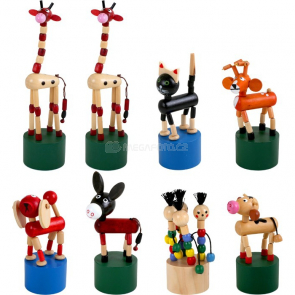 Mačkací figurky Zvířátka (8 ks)