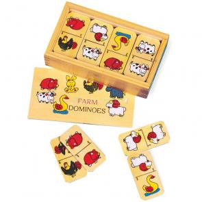 Dřevěné domino malé Statek