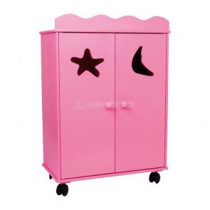 Skříň pro panenky růžová