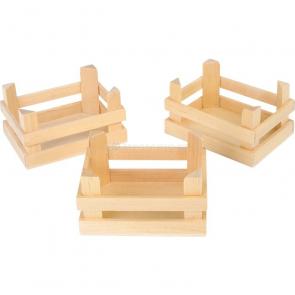 Přepravky dřevěné malé (sada)